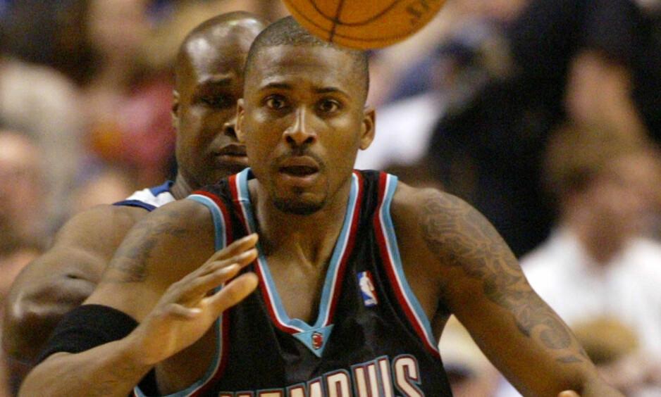 SJU ÅR SIDEN DRAPET: Lorenzen Wright var basket proff i 13 sesonger. Han ble drept for sju år siden. Her er NBA-spilleren i aksjon for Memphis Grizzlies. Foto: AP / NTB Scanpix