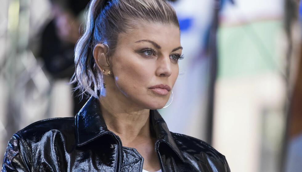 RUSAVHENGIG: Før suksesskarrieren sleit Fergie med alvorlig rusavhengighet. Her under en TV-opptreden på NBC-programmet «Today» tidligere i høst. Foto: Charles Sykes / NTB scanpix