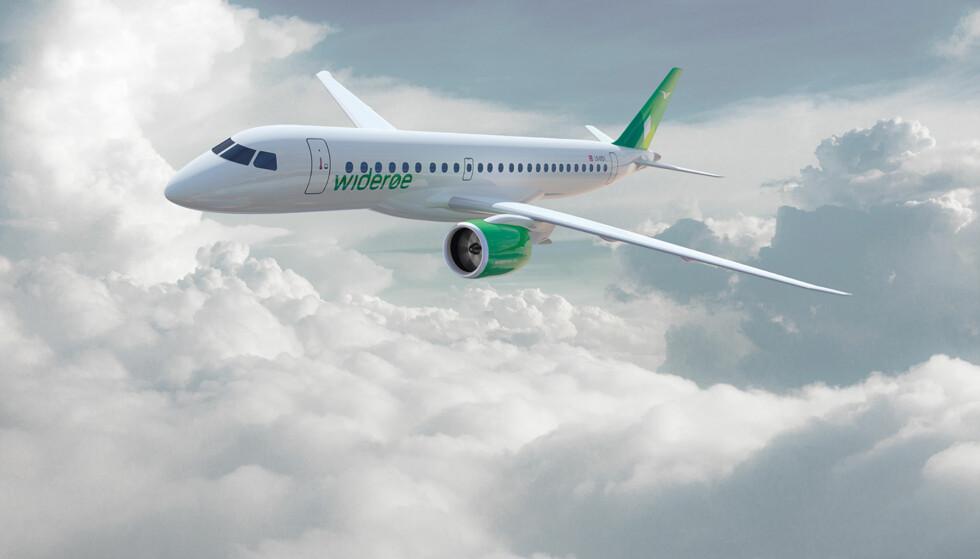 NYE JETFLY: Til våren får Widerøe sine første jetfly. De får nok å gjøre, blant annet med å frakte asiatiske turister fra Finland til norsk natur. Foto: Widerøe