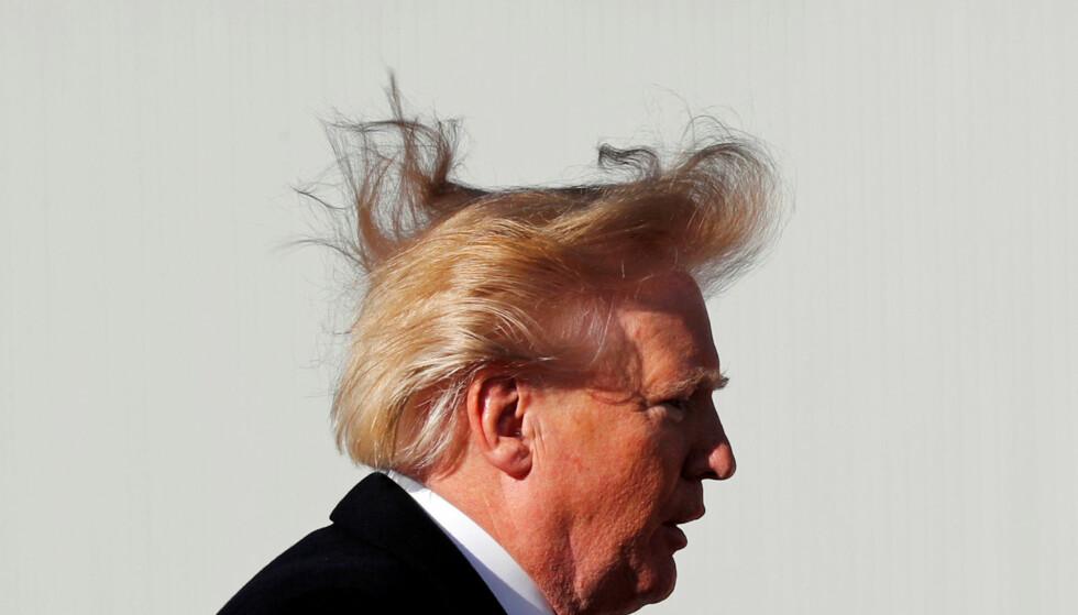 STORM: USAs president, Donald Trump, har utløst en massiv storm av kritikk for sine planer om å starte en handelskrig med sine nærmeste allierte. Foto: REUTERS/Jonathan Ernst/File Photo