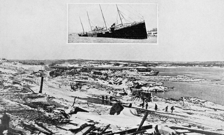 KATASTROFE: Eksplosjonen førte til at halve byen ble jevnet med jorda. Foto: The Granger collection / NTB scanpix