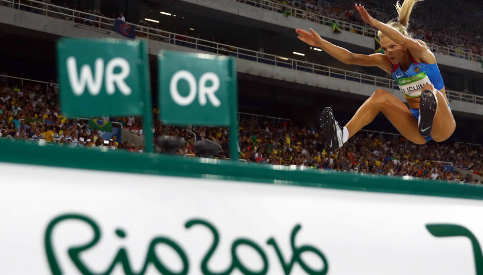 FIKK DELTA: Lengdehopper Daja Klisjina var en av få russiske friidrettsutøvere som fikk delta i Rio i 2016. Foto: REUTERS/Kai Pfaffenbach