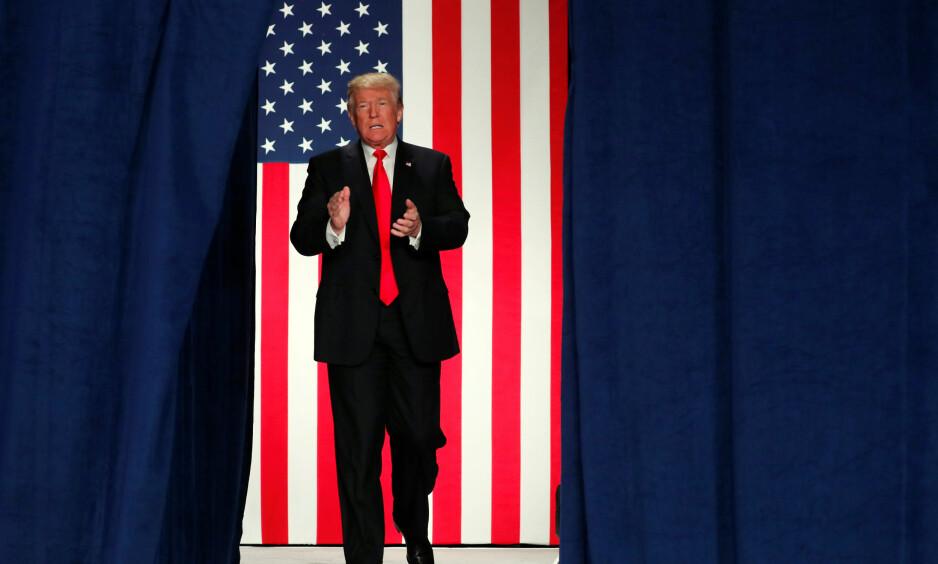 Trump: Donald Trump ble president i USA med valgløfter om høyere tollmurer og en mur for å stenge innvandrere fra Mexico, skriver artikkelforfatter Maria Berg Reinertsen.