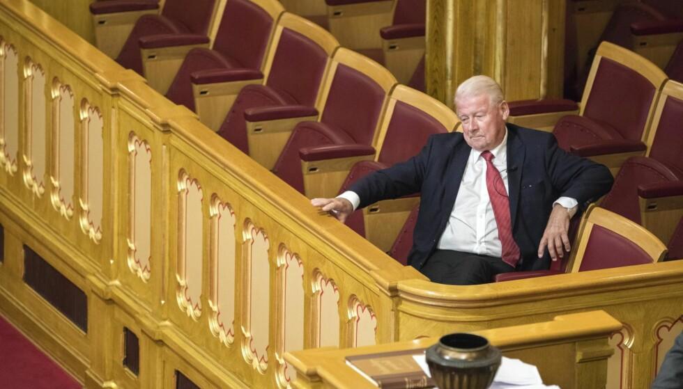 IKKE VALGT: Frp-veteran Carl I. Hagen satt på tilhørerbenken da Stortinget i går ikke stemte ham inn i Nobelkomiteen. Foto: Gorm Kallestad / NTB scanpix