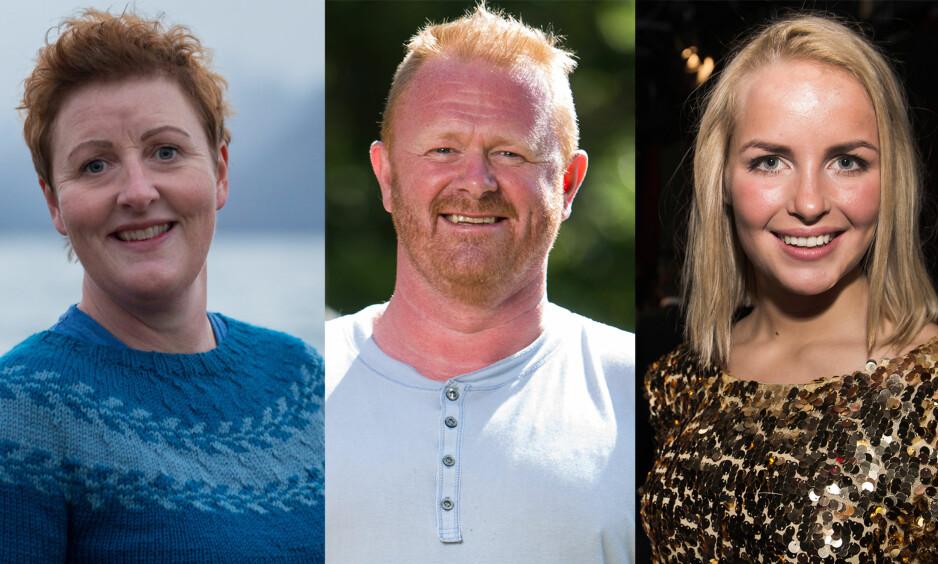 VANT HYTTE OG BIL: Laila Lochert (41), Morten Heggdal (48) og Ingvild Skare Thygesen (24) har alle gått seirende ut av realityprogrammet «Farmen». Ingen av dem har beholdt hele premien. Foto: Hege Abrahamsen / Dagbladet, Rolf-Ørjan Høgset, Øistein Norum Monsen / Dagbladet