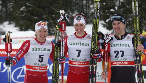 MAKTDUELLEN. Josef Wenzl kjempet mot Ola Vigen Hattetad og Eirik Brandsdal om å vinne sprintverdenscupen sammenlagt i 2013/14-sesongen. Foto: Terje Bendiksby / NTB scanpix