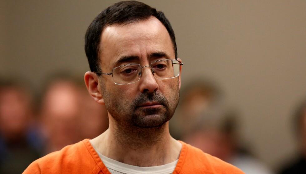 60 ÅR I FENGSEL: Larry Nassar har et langt fengselsopphold foran seg. Foto: AFP PHOTO / JEFF KOWALSKY
