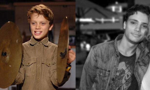 BØRRE: Adrian Falch Karlsen som spilte Bølle i «Jul i Svingen» har forandret seg mye på 12 år. Foto: NRK / Privat