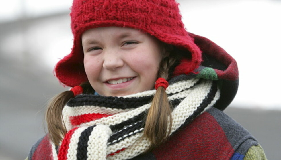 ÅSA: Ina Svenningdal var bare ni år da hun spilte rollen som Åsa i «Jul i Svingen». Foto: NRK