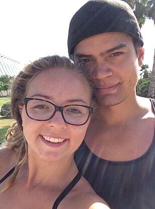FORELSKET: «Jakten»-paret har allerede delt mange fine øyeblikk sammen. Foto: Privat