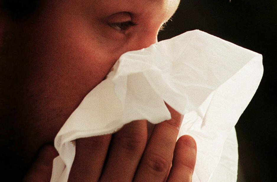 UBEHAGELIG: Influensa medfører feber og ubehag. Nå er høysesongen på vei. Foto: NTB Scanpix