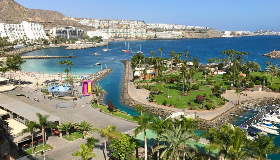 Varme følelser: Mange nordmenn drar til Anfi del Mar og Gran Canaria i jula. Sol og varme frister for mange. Foto: Odd Roar Lange/The Travel Inspector