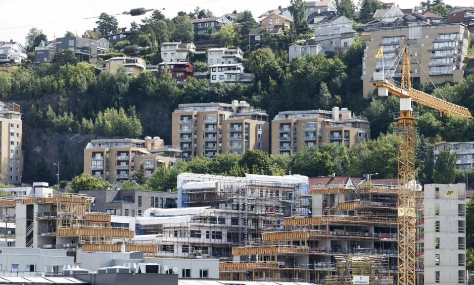 BOLIGPRISGALOPP: Kjøpte du bolig i 1986, vil du ha hatt en realgevinst på 221 prosent. Og selv om det er mye snakk om at boligprisene har falt i det siste, er boligprisene fortsatt 26 prosent høyere enn for bare fem år siden. Foto: Gorm Kallestad / NTB scanpix