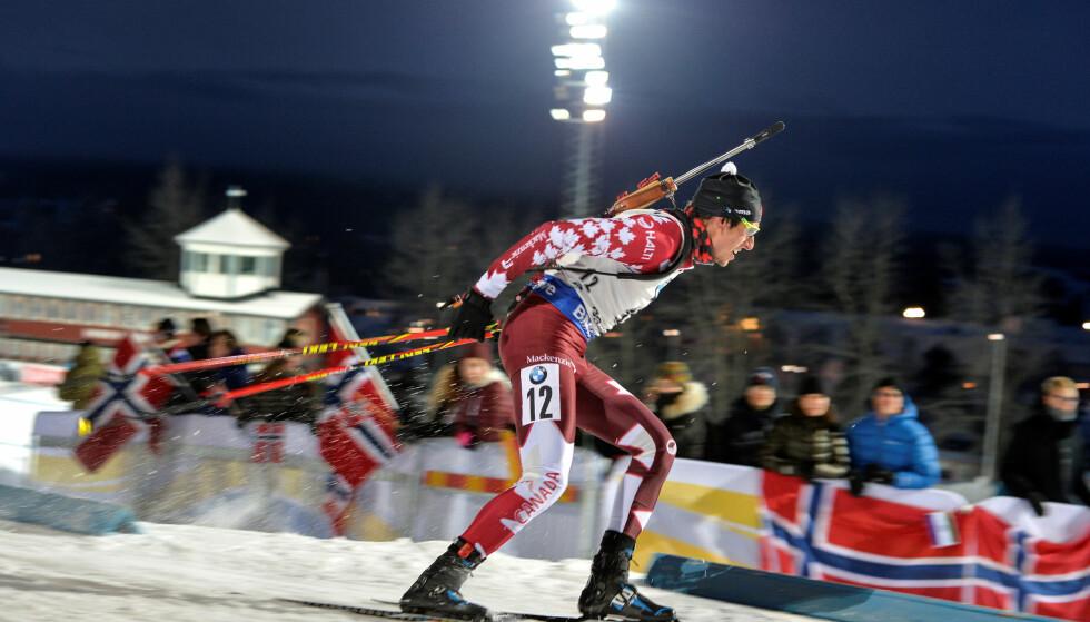BOIKOTT: Canadiske Brendan Green i aksjon i Sverige. Han og resten av det canadiske laget blir ikke å se under renn i Russland. Foto: TT News Agency/ Anders Wiklund