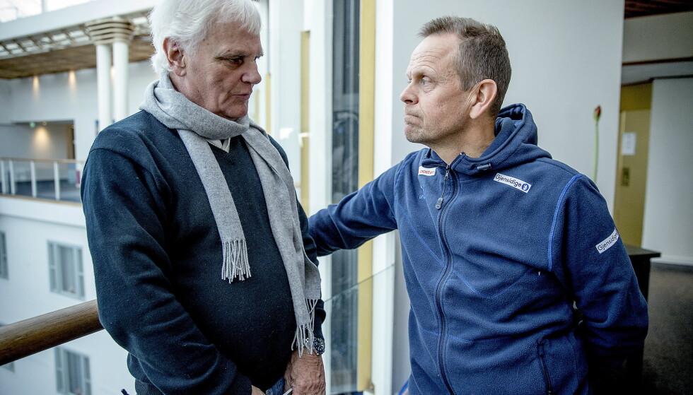 ULIKE: Thorir Hergeirsson og Trefilov er som natt og dag på trenerbenken. Frode Kyvåg (til venstre) er grunnleggende uenig i Trefilovs filosofi. Foto: Bjørn Langsem / Dagbladet