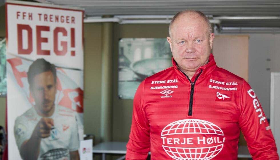 TØFF OPPGAVE: Per-Mathias Høgmo og Fredrikstad får en tøff oppgave mot Odd i cupen. Foto: Heiko Junge / NTB scanpix