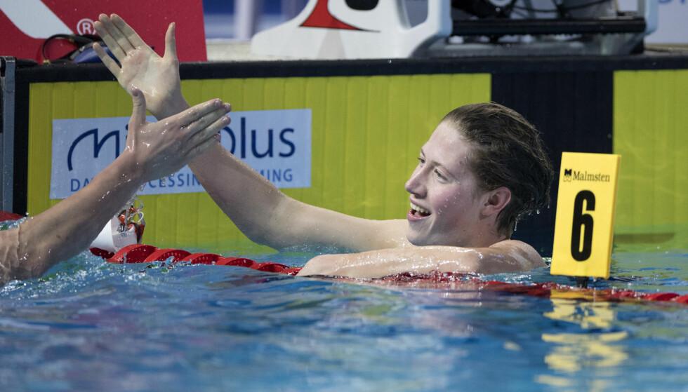 NY FINALE: Henrik Christiansen tok seg til finale på 1500 meter fri. Foto: Jessica Gow/TT / NTB scanpix
