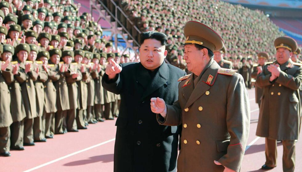 IKKE SETT SIDEN OKTOBER: Den nordkoreanske generalen Hwang Pyong-So har ikke blitt sett offentlig siden oktober. Nå spekuleres det i om han kan ha blitt henrettet. Foto: KCNA/AFP/Sscanpix