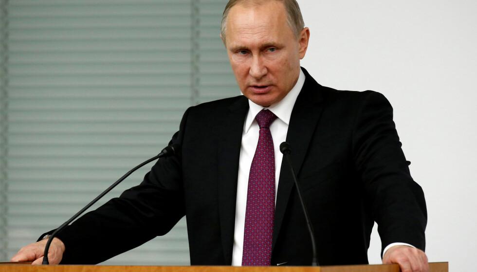 RUSSLANDS PRESIDENT: Vladimir Putin. Foto: REUTERS/Kim Kyung-Hoon/NTB Scanpix