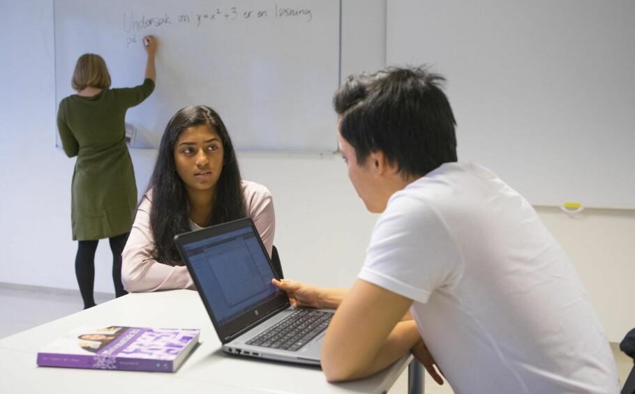DIGITAL JOURNAL: Data er for lengst tatt i bruk av elevene i skolen. En personlig, digital læringsjournal etter mønster av pasientjournalen vil gjøre det lettere å tilby den persontilpassede undervisningen elever trenger for å lykkes i framtidas arbeidsmarked, skriver kronikkforfatteren. Foto: Thomas Brun / NTB Scanpix