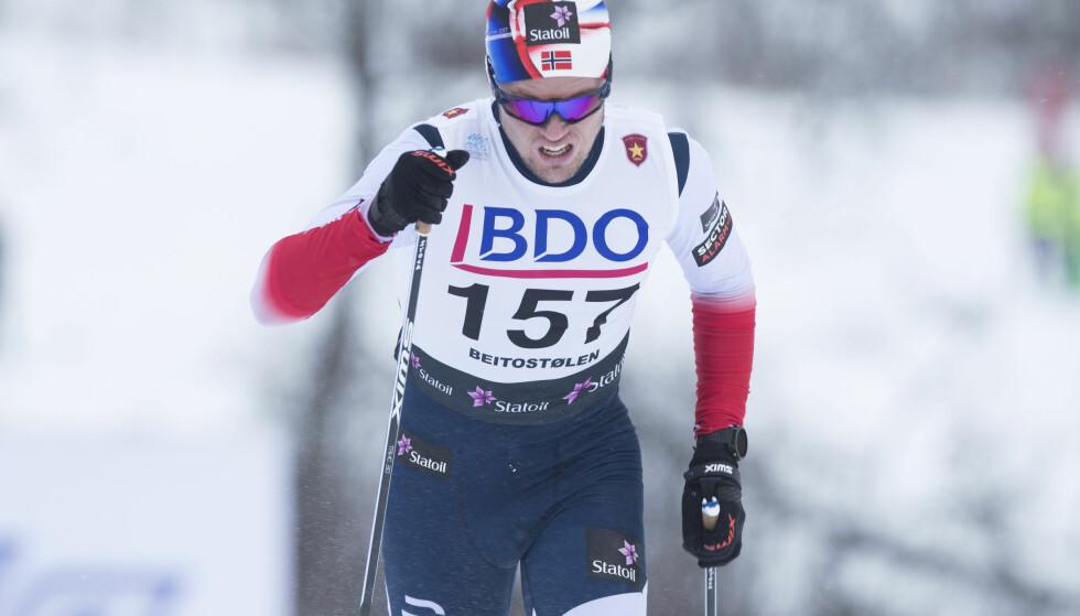 BEST AV DE NORSKE: Daniel Stock vant i Skandinavisk cup fredag. Bak ham fulgte åtte nordmenn. Foto: Terje Pedersen / NTB scanpix