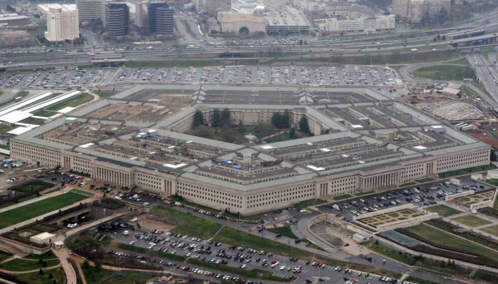PENTAGON: Ifølge New York Times og Politico, har Pentagon lørdag bekreftet eksistensen av et hemmelig UFO-program. Foto: AP Photo/Charles Dharapak