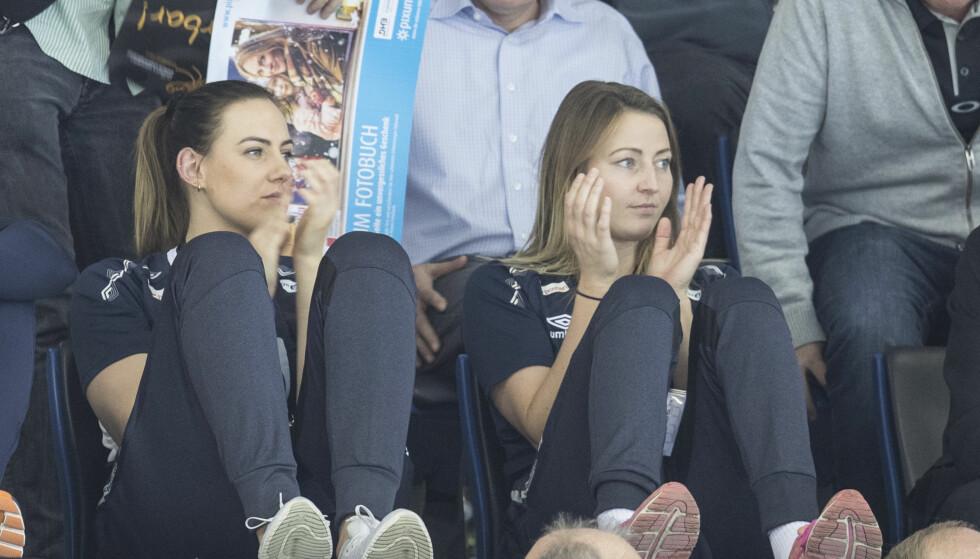 MED I FINALEN: Silje Solberg har hittil bare sittet på tribunen og ikke vært en del av den norske troppen, men før finalen er Solberg tatt inn. Foto: Vidar Ruud / NTB scanpix