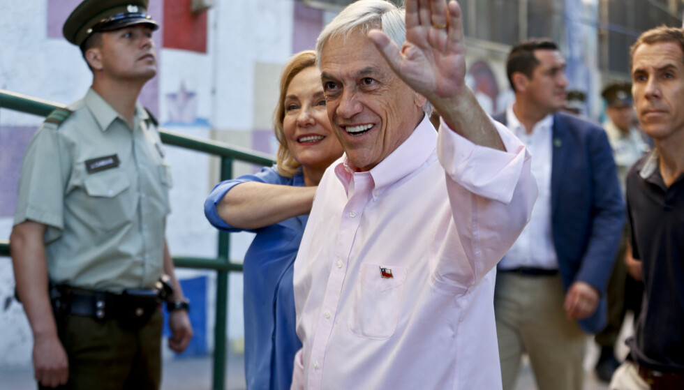 VINNER: Den konservative kandidaten og tidligere presidenten Sebastián Piñera vant presidentvalget i Chile. Foto: Luis Hidalgo / AP / NTB scanpix