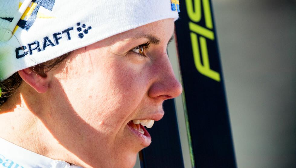 FORESLÅR FLYTTING: Charlotte Kalla mener Tour de Ski ikke bør arrangeres rundt nyttår i OL-sesonger. Foto: Jon Olav Nesvold/Bildbyrån