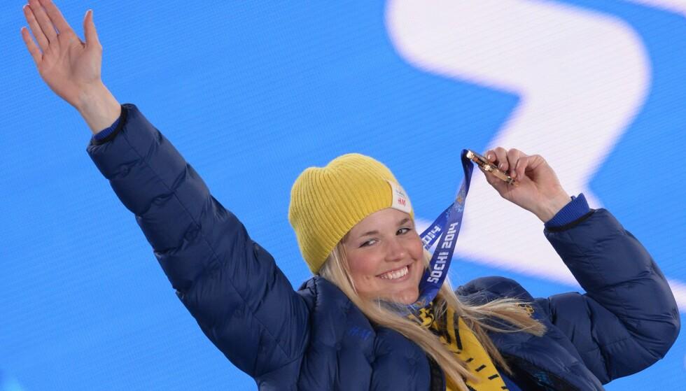 FORBLØFFER: Anna Holmlund gjør store framskritt. Foto: AFP PHOTO / ANDREJ ISAKOVIC