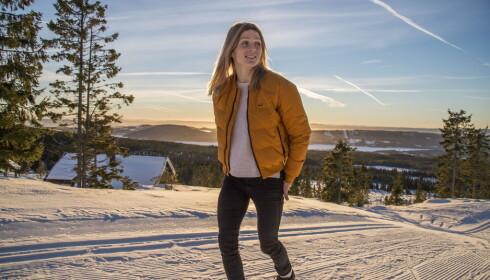 ROLIG: Therese Johaug slapper av og nyter stillheten på hytta på Sjusjøen i disse dager. Foto: Hans Arne Vedlog / Dagbladet