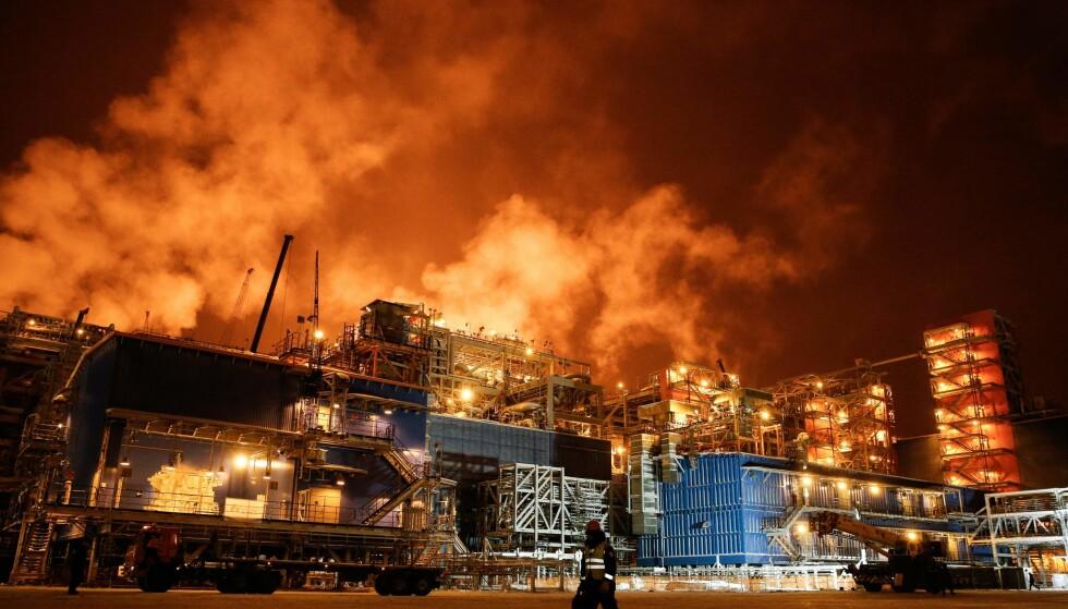 VIKTIG: I fjor åpnet en ny terminal for frakt av naturgass på Jamal-halvøya nord i Russland. Den skal eksportere nedkjølt naturgass langs Den nordlige sjørute til Europa og Asia. Foto: AFP PHOTO / Maxim Zmeyev / NTB scanpix