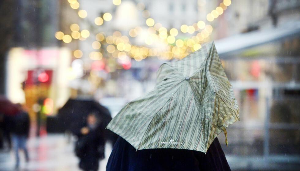 VÅTT: Det blir en våt og grå jul i hele landet. Foto: Hans Arne Vedlog / Dagbladet