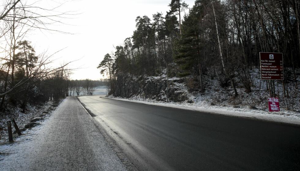 Dronning Blancas vei: Det foreslås å plassere bomstasjon i Dronning Blancas vei (IR1) innerst i Frognerkilen. Foto: Lise Åserud / NTB scanpix