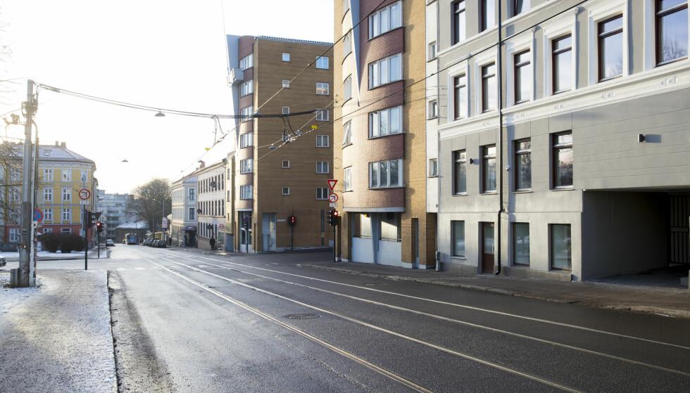 Vogts gate: I Vogts gate (IR12) plasseres bomstasjon rett på oversiden av Ring 2. Foto: Lise Åserud / NTB scanpix