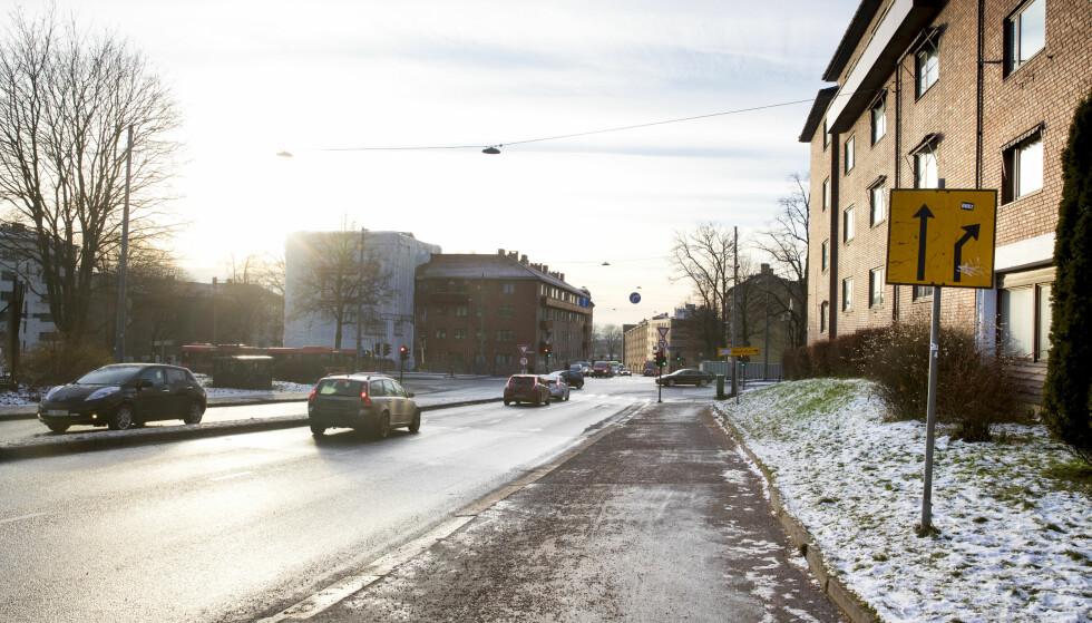 Fagerheimsgata: Som en del av Indre Ring plasseres det bomstasjon for begge retninger i Fagerheimsgata (IR14) rett på oversiden av Ring 2. Foto: Lise Åserud / NTB scanpix