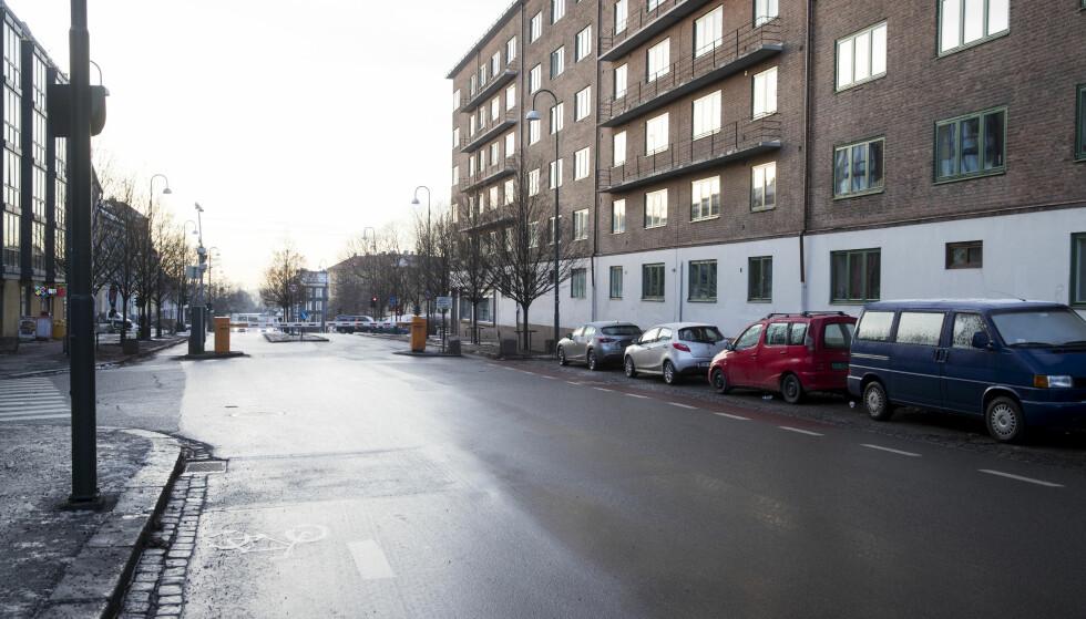 St. Halvards gate: I St. Halvards gate (IR26) plasseres det en bomstasjon ved dagens bussbom for å fange opp bilistene som kjører i gjennom. Det er ingen planer om å fjerne dagens bussbom. Foto: Lise Åserud / NTB scanpix