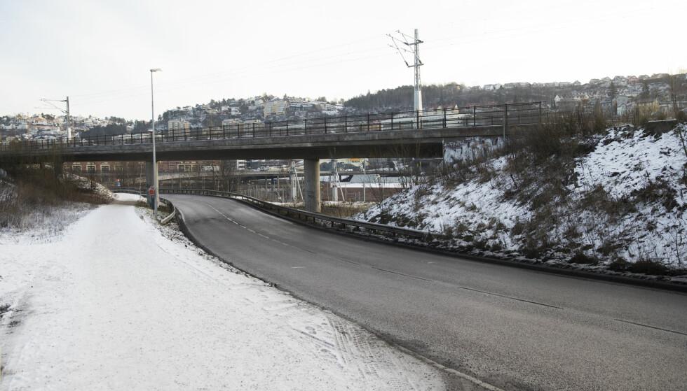 Kværnerveien: I Kværnerveien (IR27) plasseres det bomstasjon øst for Kværnerveien 5. IR27. Forslag til bomringer. Foto: Lise Åserud / NTB scanpix