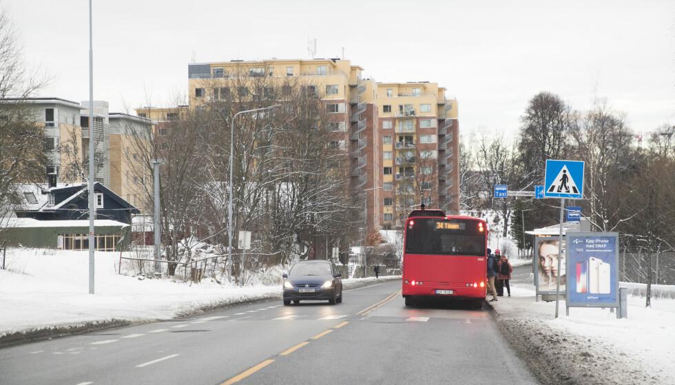 Oslo  20171215. Forslag til bomringer. I Dyvekes vei (IR28) plasseres det bomstasjon ved Lodalen bussholdeplass. Forslag til bomringer. Foto: Lise Åserud / NTB scanpix