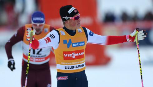 SELVFØLGELIG MED: Johannes Høsflot Klæbo. Foto: Geir Olsen / NTB scanpix