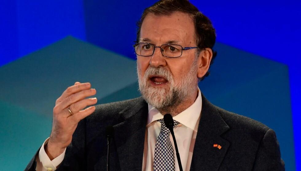 GÅR AV: Spanias konservative statsminister Mariano Rajoy. Foto: AFP