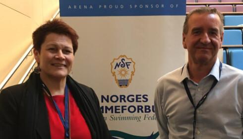 HAR TILLIT: Cato Bratbakk, her sammen med visepresident Inger Grødem Haraldsen. Foto: Svømmeforbundet