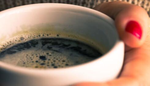 INGEN BØNNER: Dropp kaffe om kvelden. med tanke på å sikre deg en optimal nattesøvn.