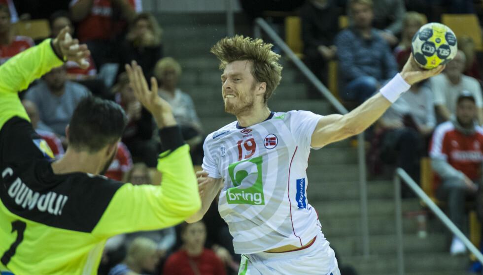 STOR: Kristian Bjørnsen scoret ti mål for sin tyske klubb Wetzlar torsdag. Foto: Vidar Ruud / NTB scanpix