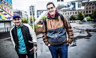 <strong>DUO:</strong> Dennis Vareide sammen med andre halvdel av Youtube-duoen Prebz&amp;Dennis, Preben Fjell. Foto: Christian Roth Christensen / Dagbladet