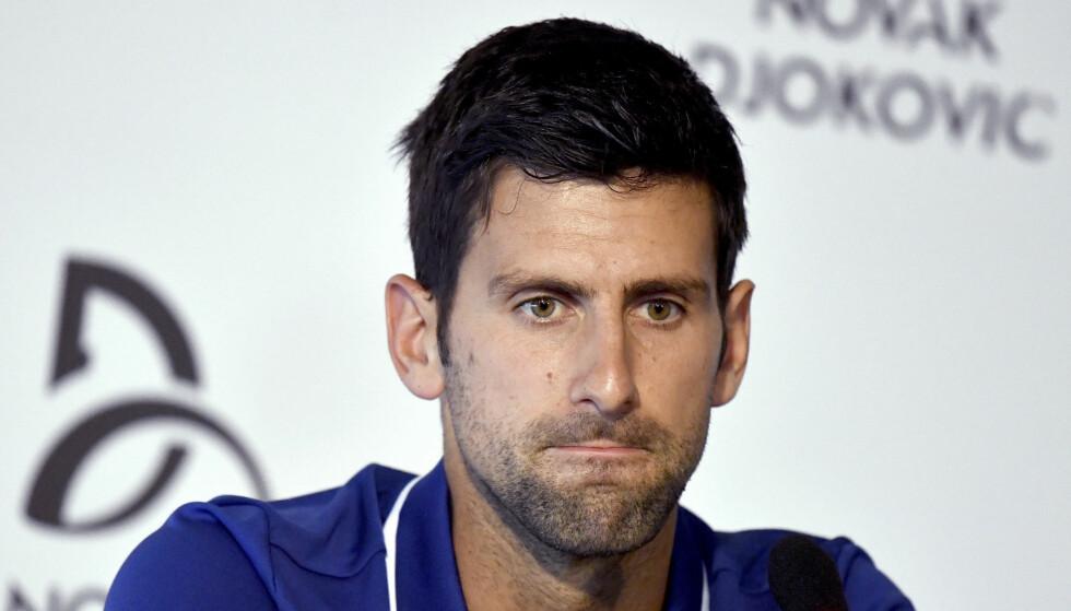 JOBBER I MOTVIND: Novak Djokovic. Foto: NTB Scanpix