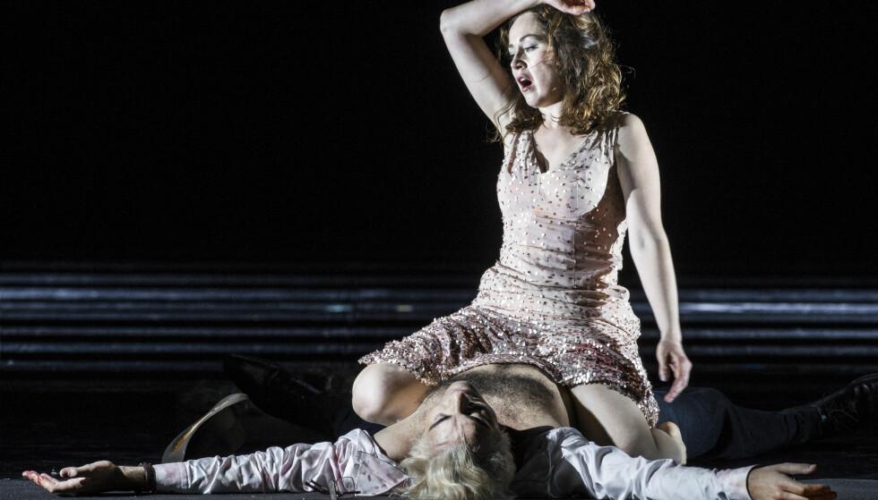 Opera: Svetlana Aksenova i fjorårets oppsetning av «Tosca» på Den Norske Opera & Ballett. Foto: Erik Berg