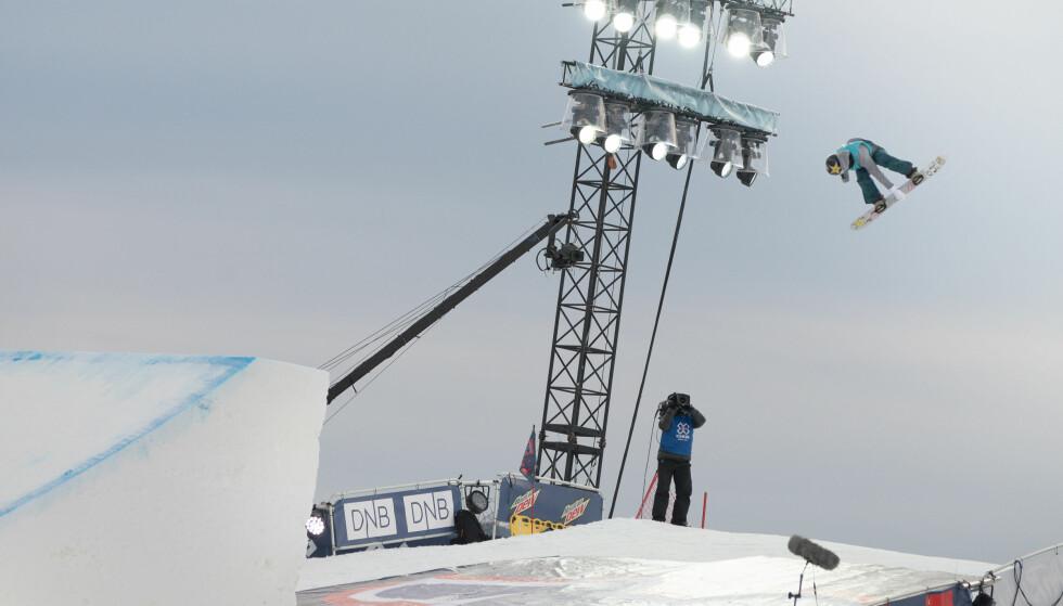 TIL FORNEBU: X-Games. Her er Silje Norendal i aksjon da hun tok gull i øvelsen Big Air i Hafjell i fjor. Foto: Peter Gløersen / Snowboardforbundet