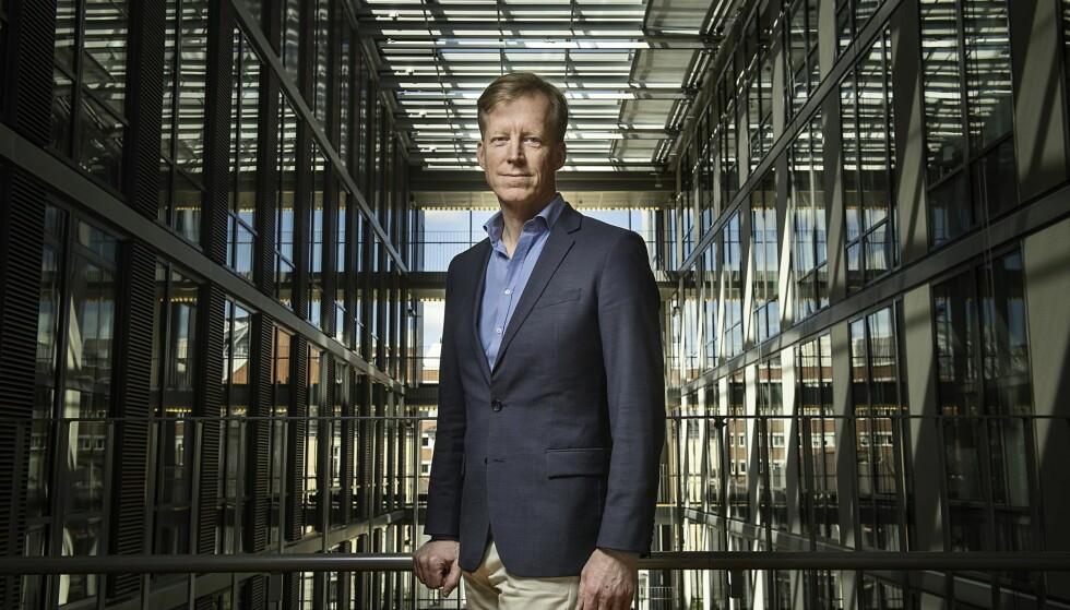 I STORMEN: Rektor Curt Rices krav til nyansatte ved Høgskolen i Oslo og Akershus er omdiskuterte. Foto: Benjamin A. Ward / HiOA