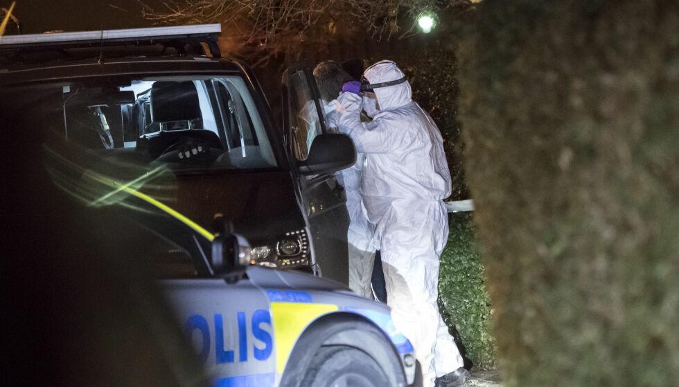 DRAPSSAK: En familie på fire ble funnet død i en bolig i Sverige i januar. Etterpå fant politiet et avskjedsbrev. FOTO: Johan Nilsson/ TT / NTB Scanpix
